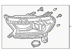 Ford Factory Replacement Halogen Headlight; Black Housing; Clear Lens; Passenger Side (19-21 Ranger)