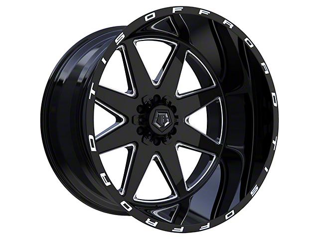 TIS 551BM Gloss Black Milled 6-Lug Wheel; 20x10; -25mm Offset (05-15 Tacoma)