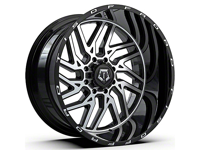 TIS 544MB Gloss Black Machined 6-Lug Wheel; 22x12; -51mm Offset (16-21 Tacoma)