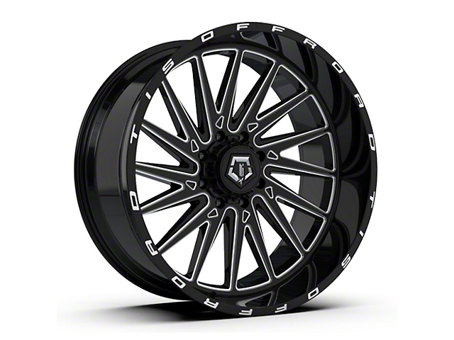 TIS 547B Gloss Black Milled 6-Lug Wheel; 20x10; -19mm Offset (16-21 Tacoma)