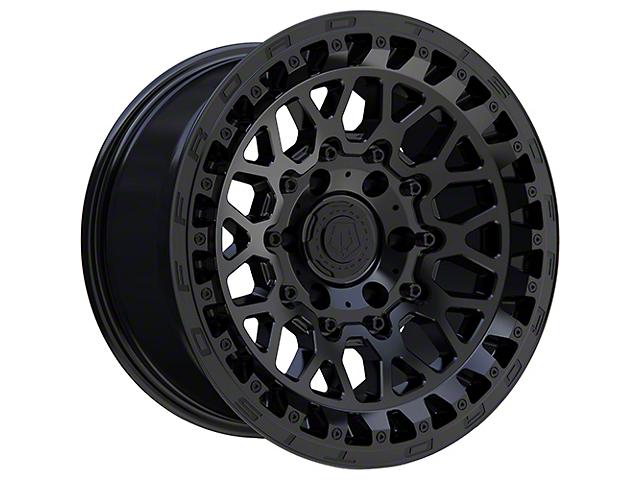 TIS 555SB Satin Black 6-Lug Wheel; 17x9; -12mm Offset (05-15 Tacoma)