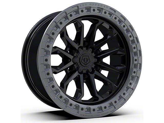TIS 556BA Satin Black with Anthracite Simulated Bead Ring 6-Lug Wheel; 17x9; -12mm Offset (16-21 Tacoma)