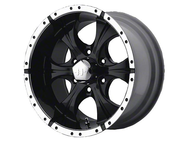 HELO HE791 MAXX Gloss Black Machined 6-Lug Wheel; 17x9; -12mm Offset (16-21 Tacoma)