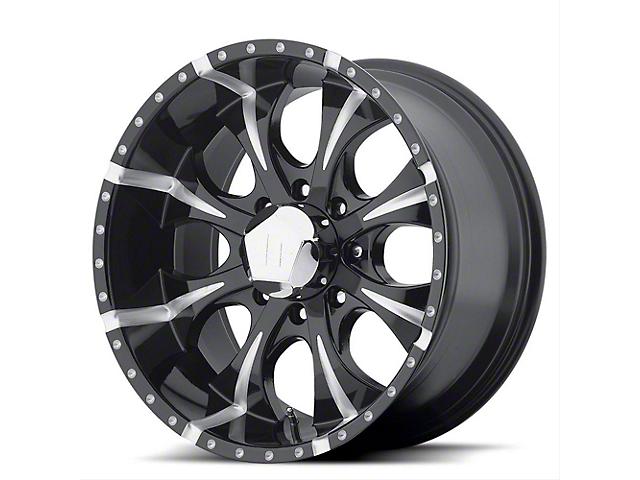 HELO HE791 MAXX Gloss Black Milled 6-Lug Wheel; 18x9; -12mm Offset (16-21 Tacoma)