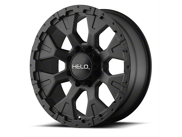 HELO HE878 Satin Black 6-Lug Wheel; 17x9; -12mm Offset (16-21 Tacoma)