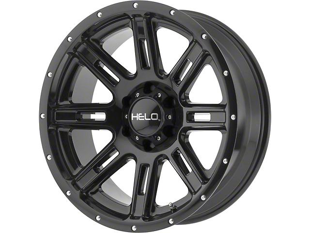 HELO HE900 Gloss Black 6-Lug Wheel; 17x9; -12mm Offset (16-21 Tacoma)