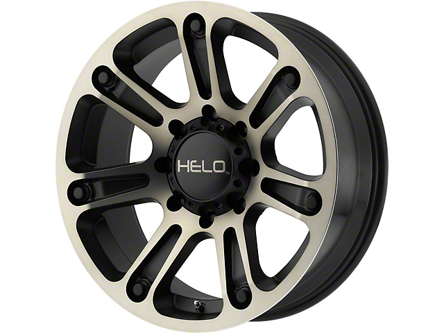 HELO HE904 Satin Black Machined with Dark Tint 6-Lug Wheel; 18x9; 0mm Offset (05-15 Tacoma)