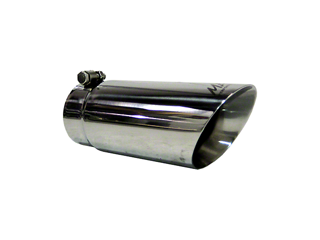 MBRP 4-Inch Dual Wall Angled Exhaust Tip; Polished (Fits 3.50-Inch Tailpipe)