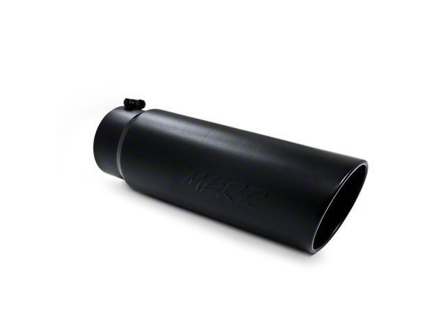 MBRP 6-Inch Angled Rolled End Exhaust Tip; Black (Fits 5-Inch Tailpipe)