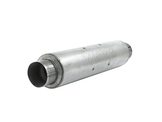MBRP Installer Series Quiet Tone Muffler; 4-Inch Inlet/Outlet (Universal; Some Adaptation May Be Required)