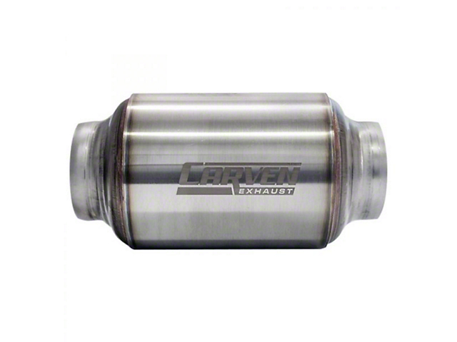 Carven Exhaust Carven-R Performance Muffler; 2.50-Inch (Universal; Some Adaptation May Be Required)