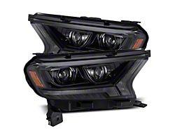 LUXX-Series LED Projector Headlights; Alpha Black Housing; Clear Lens (19-21 Ranger)