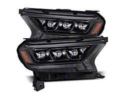 NOVA-Series LED Projector Headlights; Alpha Black Housing; Clear Lens (19-21 Ranger)