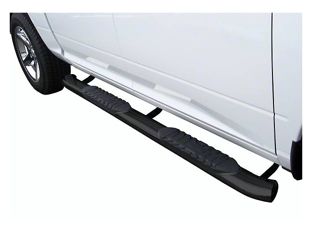 5-Inch Premium Oval Side Step Bars; Semi-Gloss Black (19-21 Ranger SuperCrew)