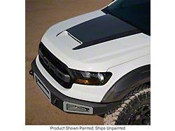 V2 Ram Air Hood with Carbon Fiber Top; Unpainted (19-21 Ranger)