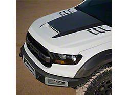 V2 Ram Air Hood with Carbon Fiber Blister; Unpainted (19-21 Ranger)
