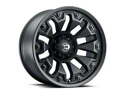 Vision Off-Road 362 Armor Satin Black with Black Bolt Inserts 6-Lug Wheel; 20x9; 0mm Offset (19-21 Sierra 1500)