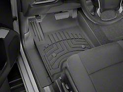 Weathertech Front and Rear Floor Liner HP; Black (19-21 Sierra 1500 Crew Cab w/ Front Bucket Seats & Rear Underseat Storage)
