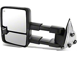 Powered Heated Towing Mirror with Smoked Turn Signal; Black; Driver Side (07-13 Sierra 1500)