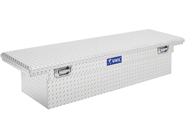 UWS 69-Inch Aluminum Crossover Tool Box with Pull Handles; Bright (07-21 Tundra w/ 6.5-Foot & 8-Foot Bed)