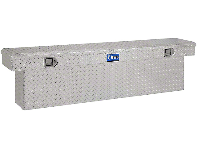 UWS 69-Inch Aluminum Deep Slim-Line Crossover Tool Box; Bright (07-21 Tundra w/ 6.5-Foot & 8-Foot Bed)