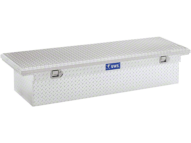 UWS 69-Inch Aluminum Low Profile Crossover Tool Box; Bright (07-21 Tundra w/ 6.5-Foot & 8-Foot Bed)