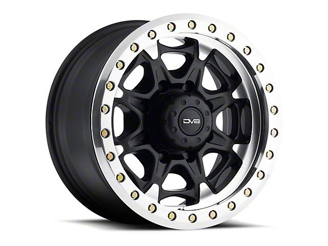 DV8 Offroad 882 True Beadlock Matte Black Wheel; 17x8.5 Wheel (76-86 Jeep CJ5 & CJ7)