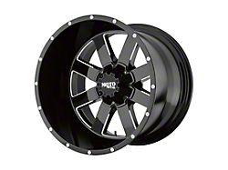 Moto Metal MO962 Gloss Black Milled 8-Lug Wheel; 20x12; -44mm Offset (06-08 RAM 1500 Mega Cab)