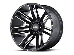 Moto Metal MO978 Razor Satin Black Machined 8-Lug Wheel; 20x10; -24mm Offset (06-08 RAM 1500 Mega Cab)