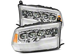 NOVA-Series LED Projector Headlights; Chrome Housing; Clear Lens (13-18 RAM 2500 w/ Projector Headlights)