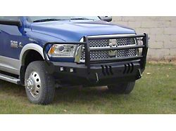 Throttle Down Kustoms Standard Front Bumper with Grille Guard; Bare Metal (10-18 RAM 2500)
