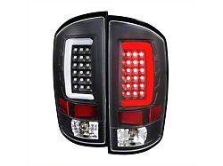 G2 LED Tail Lights; Matte Black Housing; Clear Lens (03-06 RAM 2500)