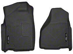 Husky X-Act Contour Front Floor Liners; Black (03-18 RAM 2500 Regular Cab w/ Automatic Transmission)