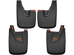 Husky Custom Molded Mud Guards; Front and Rear (19-21 RAM 2500 SRW w/ OE Fender Flares)