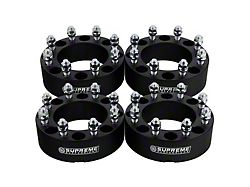 Supreme Suspensions 1.50-Inch Pro Billet Wheel Spacers; Black; Set of Four (10-14 RAM 2500)