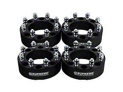 Supreme Suspensions 2-Inch Pro Billet Wheel Spacers; Black; Set of Four (10-14 RAM 2500)