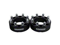 Supreme Suspensions 2-Inch Pro Billet Wheel Spacers; Black; Set of Two (10-14 RAM 2500)