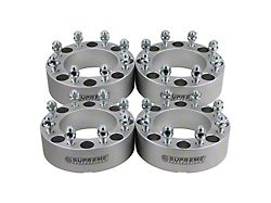 Supreme Suspensions 2-Inch Pro Billet Wheel Spacers; Silver; Set of Four (10-14 RAM 2500)
