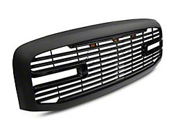 RedRock 4x4 Boss Upper Replacement Grille with LED DRL; Matte Black (06-09 RAM 2500)