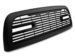 RedRock 4x4 Boss Upper Replacement Grille with LED DRL; Matte Black (10-18 RAM 2500)