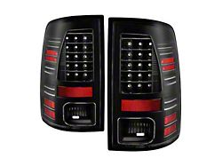 LED Tail Lights; All Black Housing; Clear Lens (13-18 RAM 2500 w/ Factory LED Tail Lights)