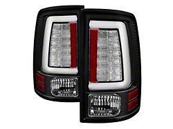 Light Bar LED Tail Lights; Black Housing; Clear Lens (10-18 RAM 2500 w/o Factory LED Tail Lights)