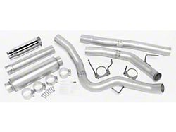 Dynomax Ultra Flo Welded Single Exhaust System with Polished Tip; Side Exit (03-04 5.9L RAM 2500
