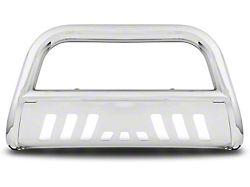 Armordillo Bumper Push Bar; Bull Guard; With Skid Plate; 3-Inch Tubing; Chrome (03-09 RAM 2500)