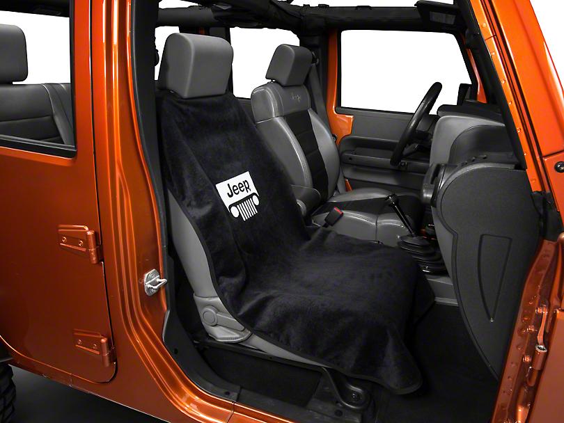 Seat Armour Jeep Grille Seat Cover - Black (87-18 Wrangler YJ, TJ, JK & JL)