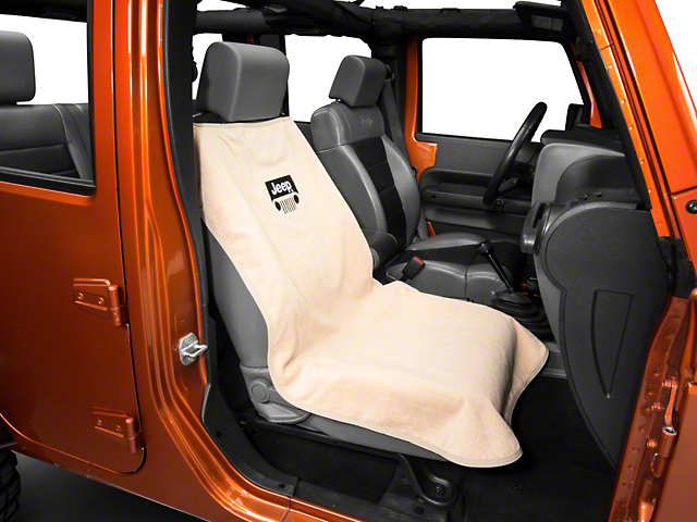 Seat Armour Jeep Grille Seat Cover - Tan (87-20 Jeep Wrangler YJ, TJ, JK & JL)