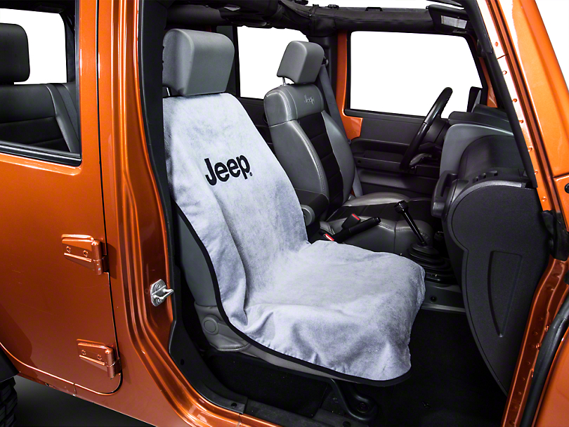 Seat Armour Jeep Letters Seat Cover - Gray (87-18 Wrangler YJ, TJ, JK & JL)