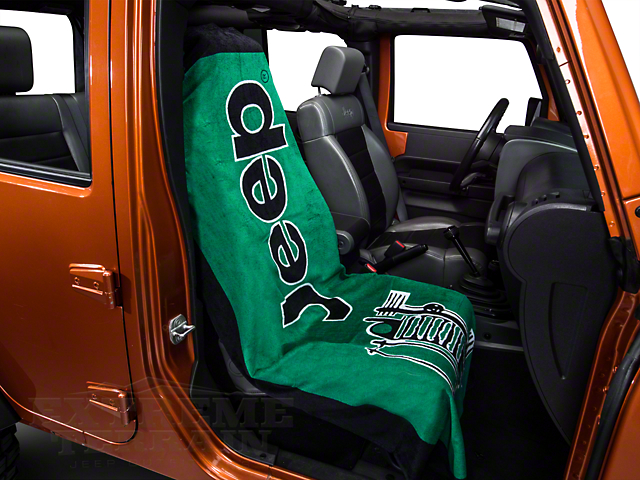 Seat Armour Towel 2 Go; Green (87-20 Jeep Wrangler YJ, TJ, JK & JL)