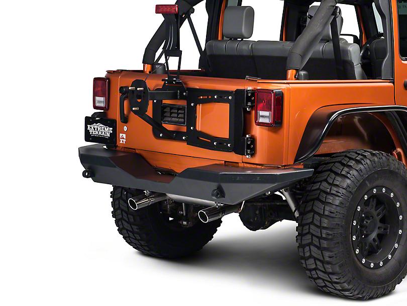 RedRock 4x4 Rear Hinged Tire Carrier w/ Tire Mount (07-17 Wrangler JK)
