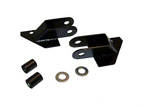 Rough Trail Mirror Relocation Brackets - Black (87-95 Wrangler YJ)